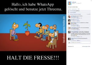 ruthe, WhatsApp und Threema